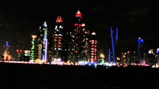 Dubai Marina from the Sea. 16.01.2014