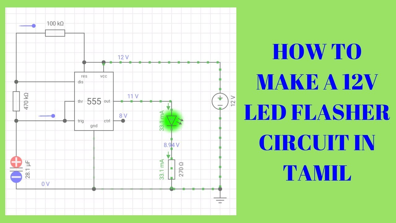 small resolution of 12v flasher circuit diagram