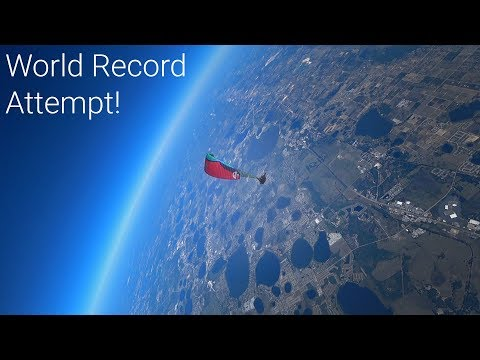 He jumped from 23,000 ft...with a PARAGLIDER!