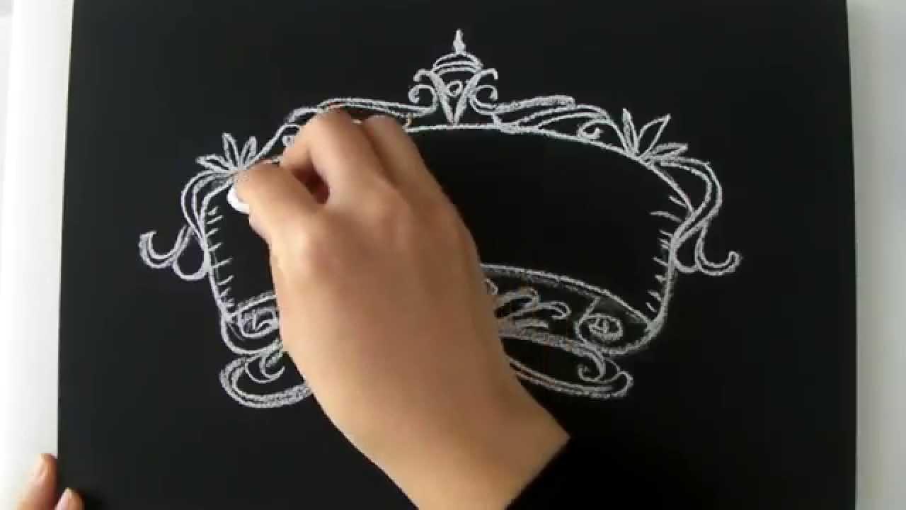 黒板とチョークだけでもインテリアになるチョークアートの描き方 大人