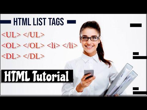 HTML Tutorial - Ordered List And Unordered List   HTML List Tag