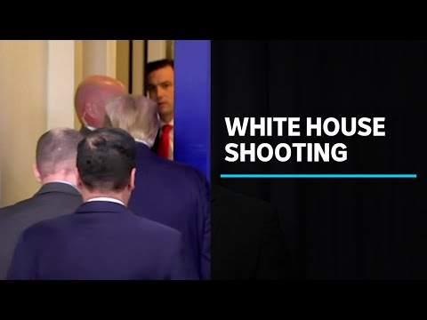 Donald Trump escorted from briefing room after person shot outside White House | ABC News