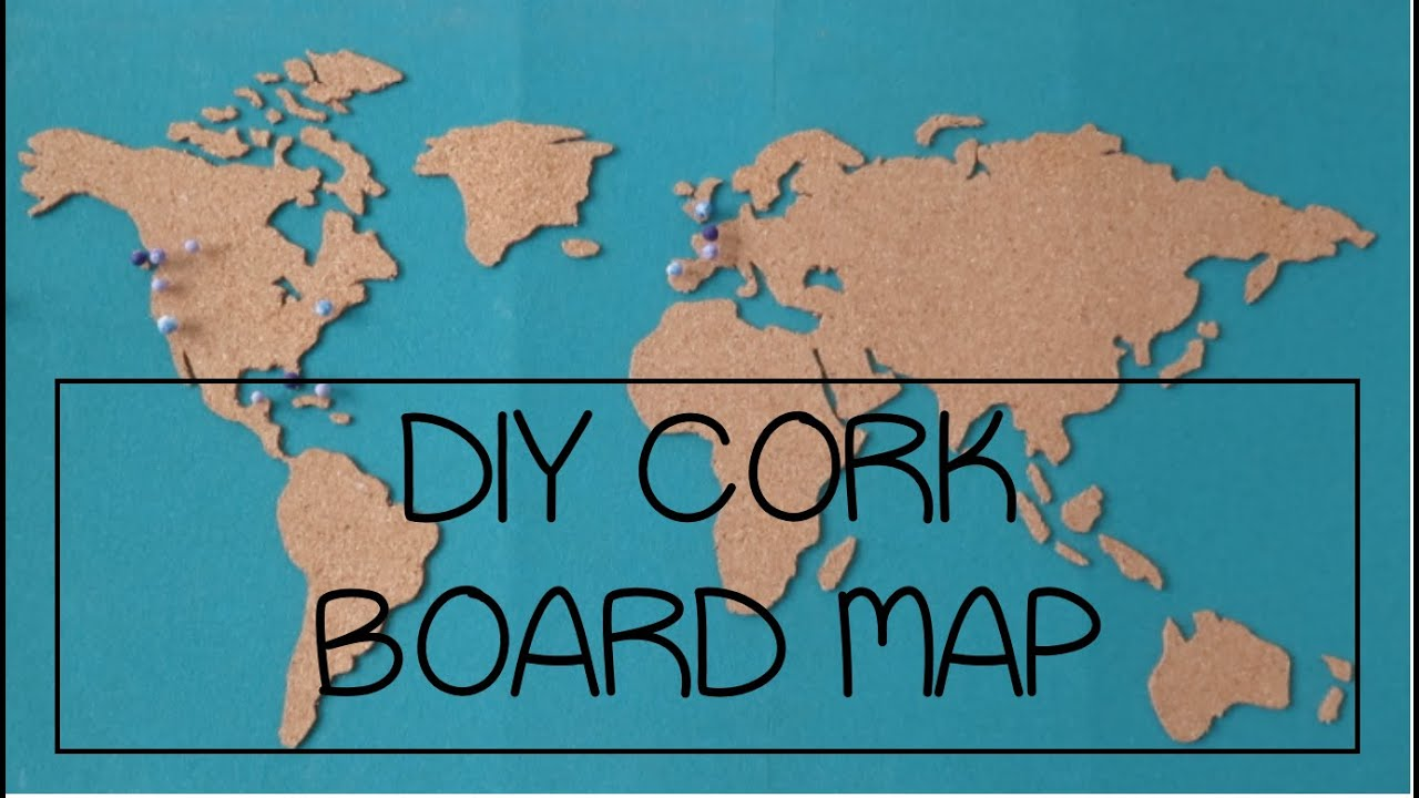 DIY Cork Board Map YouTube - Map of the united states cork board