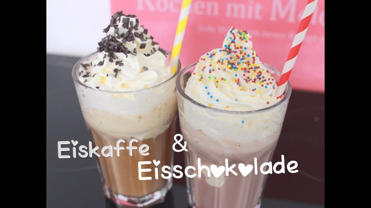rezept eiskaffee und eisschokolade selber machen mit vanilleeis und sahne anleitung youtube. Black Bedroom Furniture Sets. Home Design Ideas