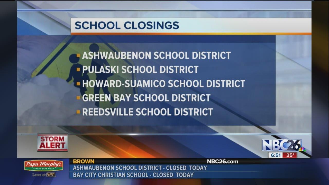 Update on school closings