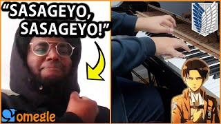 I played SASAGEYO and other ATTACK ON TITAN openings on OMEGLE... (Anime Piano)