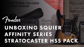 Unboxing The Squier Affinity HSS Stratocaster Pack | Fender