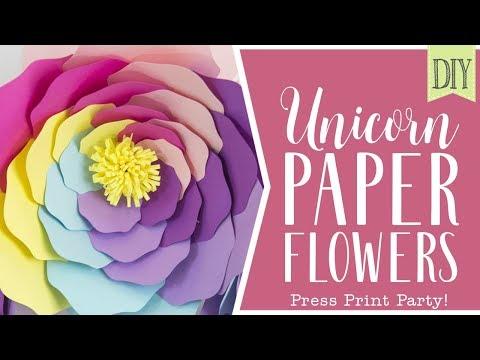 DIY Unicorn Paper Flowers - Tutorial