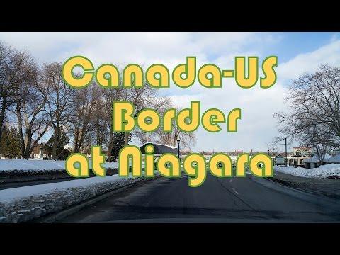 Toronto to Niagara Falls Canada-US Border Driving on Queen Elizabeth Way