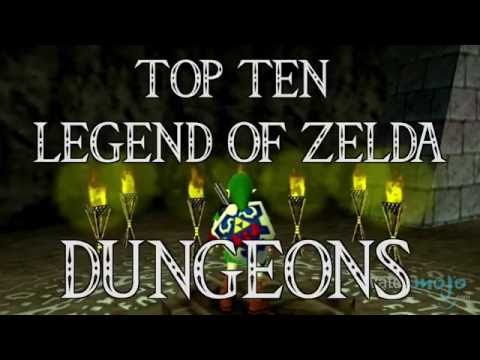 Top 10 Legend of Zelda Dungeons (Quickie)