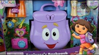 La Mochila de Dora La Exploradora Con Sorpresas| Juguetes Para Niñas