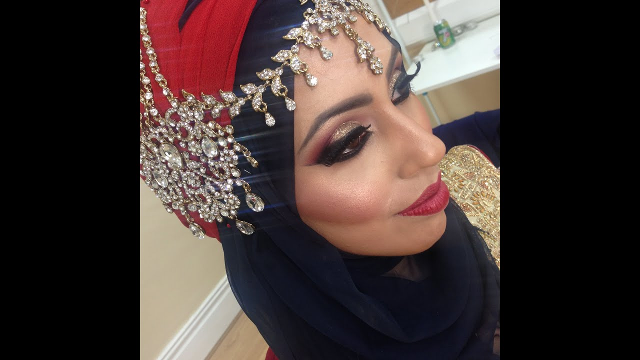 traditional asian bridal makeup tutorial tasneem hijaab