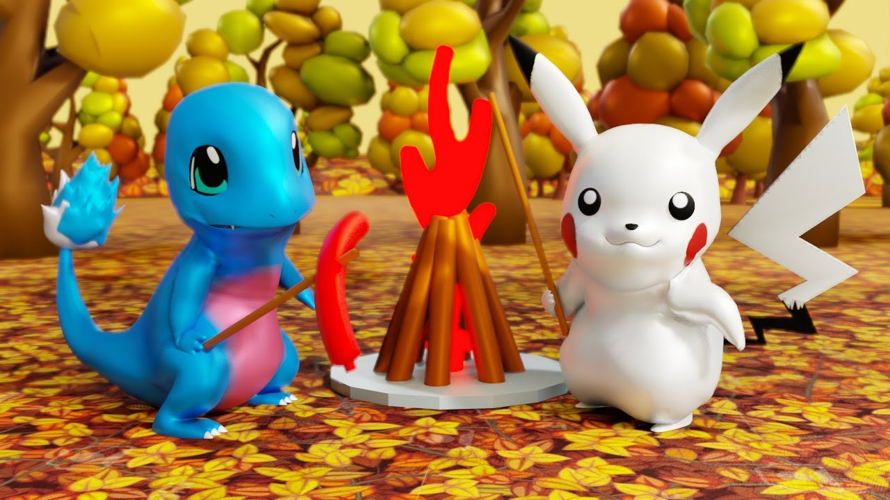 LEGO POKEMON GO AUTUMN CAMPFIRE WITH FRIENDS in country pokemon Hindi