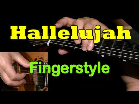 HALLELUJAH by Leonard Cohen: Fingerstyle Guitar + TAB by GuitarNick