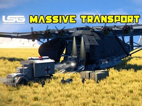 Massive Transport Aircraft Messerschmitt 323 - Space Engineers