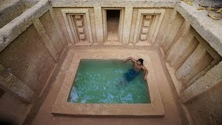 Build The Most Stunning Underground Temple Swimming Pool by Ancient Skills