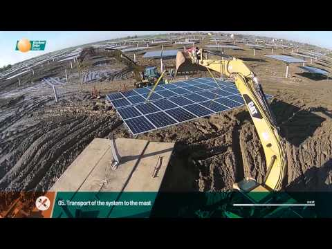 Kirchner Solar Group. Construction phases of a multi mW sonnen system plant