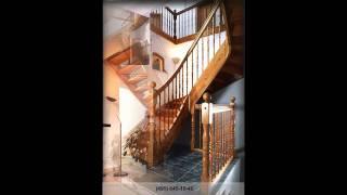 Лестницы деревянные, на больцах, винтовые(Изготовление и монтаж лестниц для домов, коттеджей и квартир из Берёзы, Бука, Клена, Ясеня, Дуба и экзотическ..., 2010-11-07T20:48:23.000Z)