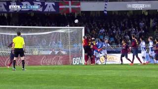 Real Sociedad - Barcelona Highlights HD 22.02.2014