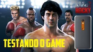 Real Boxing 2 ROCKY Moto X Play Testando o Game
