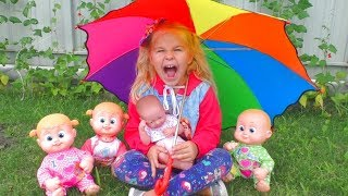 Rain Rain Go Away | Nursery Rhymes Song with Emily's Family