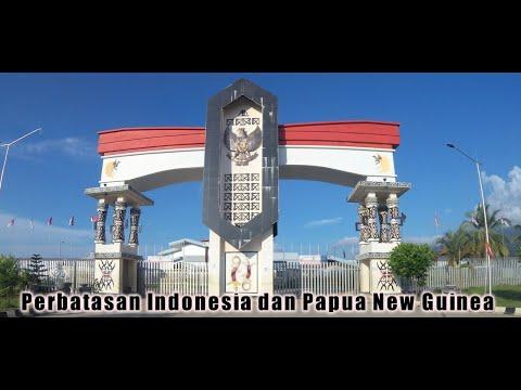Border of Indonesia - Papua New Guinea