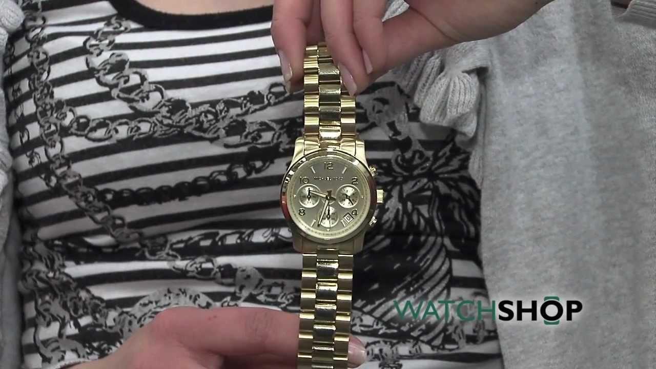 01141960c3e8 Ladies  Michael Kors Chronograph Watch (MK5055) - YouTube