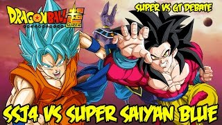 Super Saiyan God Blue vs SSJ4! What Do You Like Better?! | Dragon Ball GT vs Super Debate