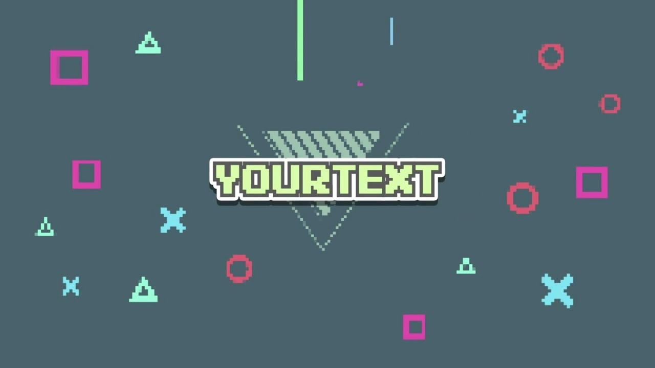 FREE 8-Bit Intro Template #222 | Adobe After Effects Template + FULL ...