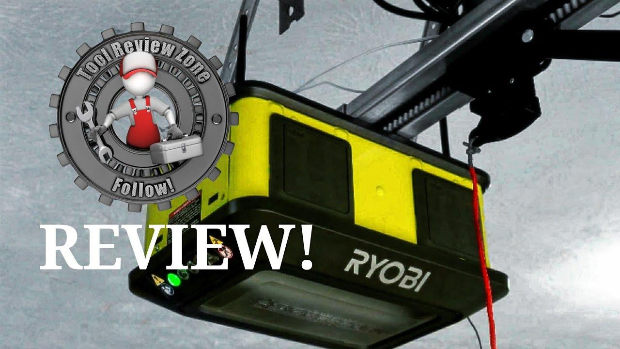 Ryobi 1 25 Hp Belt Garage Door Opener Review How Quiet