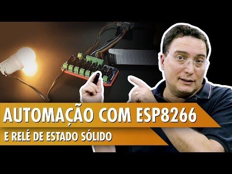 Automação com ESP8266 e relé de estado sólido