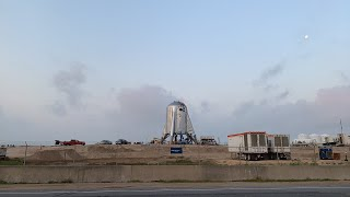 Sunrise with Starhopper - Live at SpaceX Boca Chica
