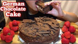 ASMR GERMAN CHOCOLATE CAKE | Eating Sounds | HOPE ASMR