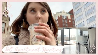 Moving to DC, apartment hunting in DC | Moving Vlog #1