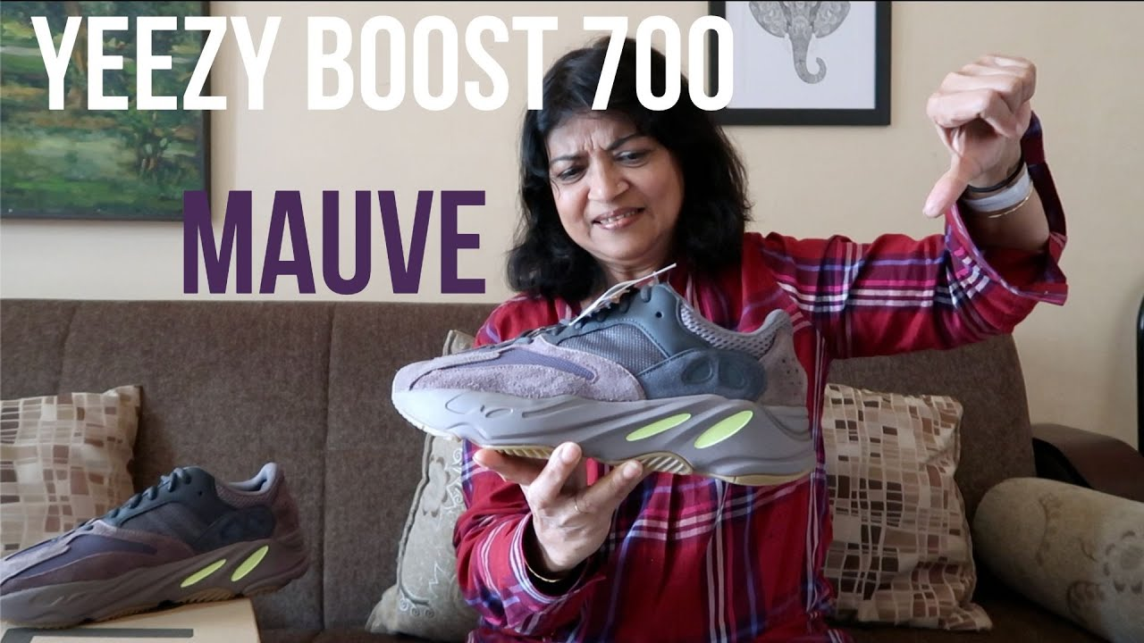 b7f09dd9c7864 My mom reacts to the Yeezy Boost 700 Mauve (Hilarious) + On Feet Look!