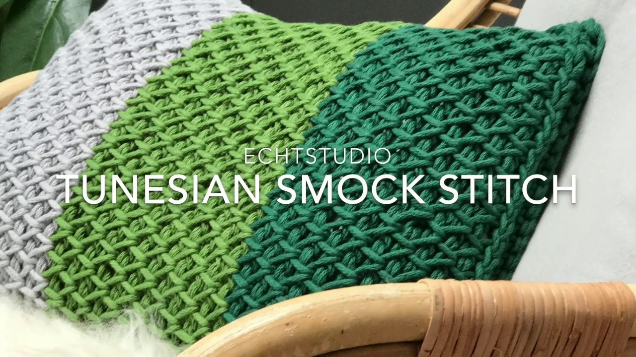 Tunisch Haken Tunesian Smock Stitch Youtube