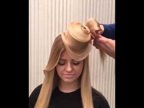 Шляпка из волос причёска