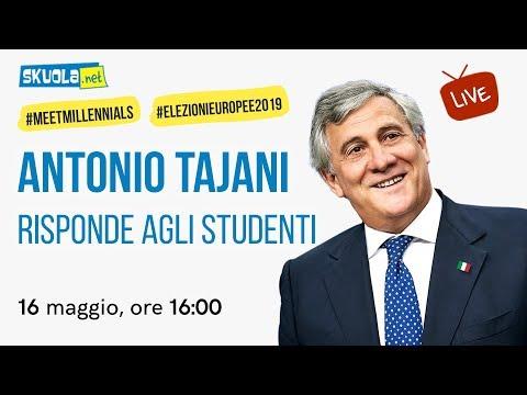 Antonio Tajani (Forza Italia) risponde agli studenti - #MeetMillennials #ElezioniEuropee