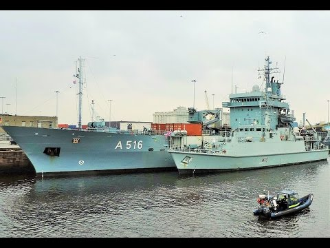 NATO navy ships in Dublin port