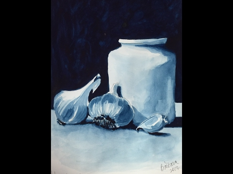 How I painted this still life using Golden QOR watercolor paint.