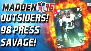 Madden 16 Ultimate Team - NEW OUTSIDERS! 98 PRESS GEM! 24HR TIMMONS! - MUT 16