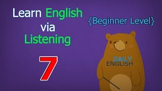 Learn English via Listening Beginner Level | Lesson 7 | Jennifer the Firefighter