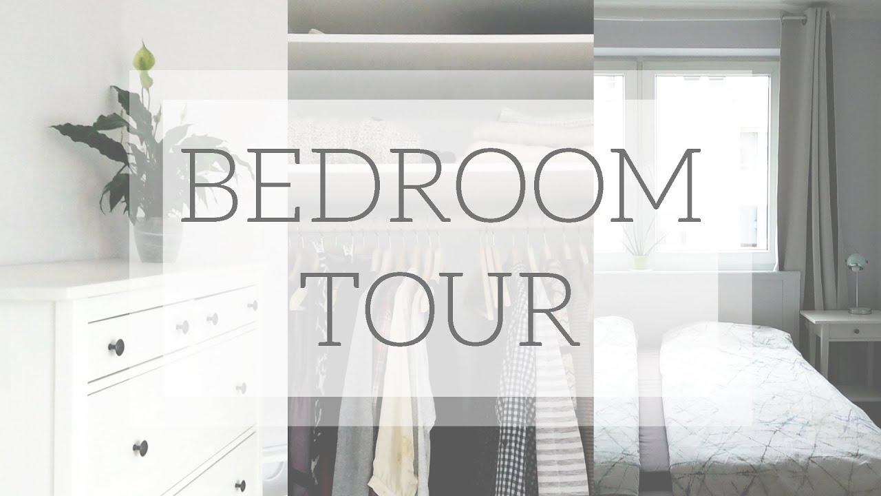 Minimal Bedroom U0026 Capsule Wardrobe Closet Tour   YouTube