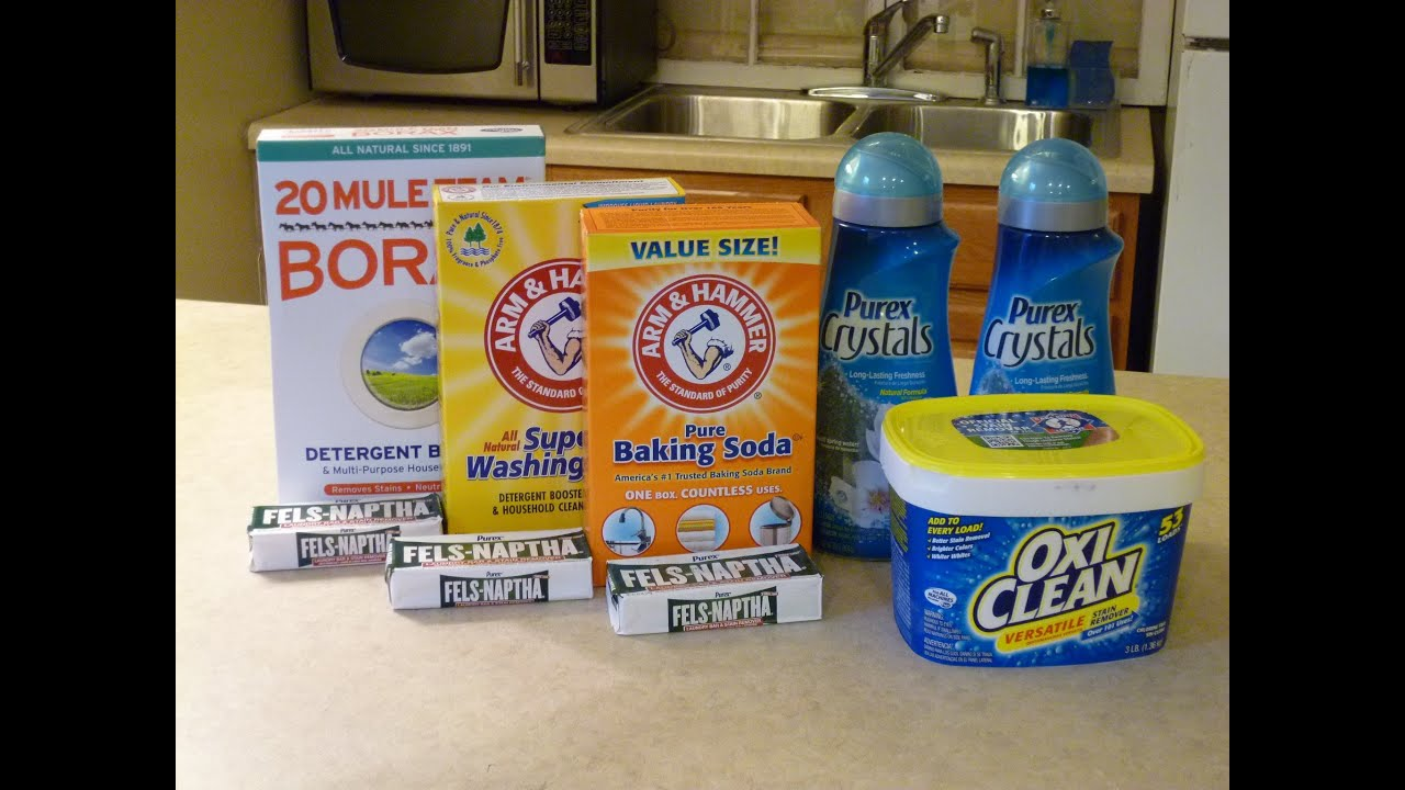 Homemade Laundry Detergent - YouTube