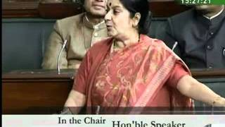 Liberhan Ayodhya Commission: Smt. Sushma Swaraj: 08.12.2009