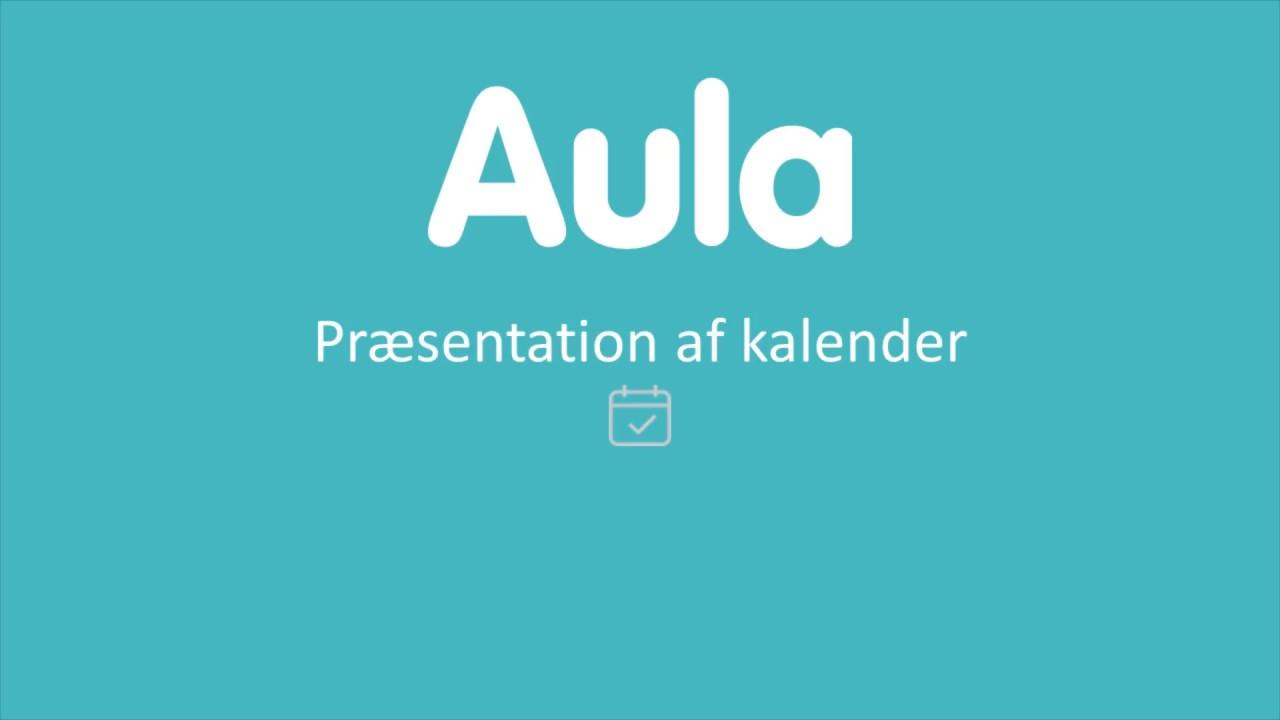 Aula undervisningsvideo - præsentation af kalenderen