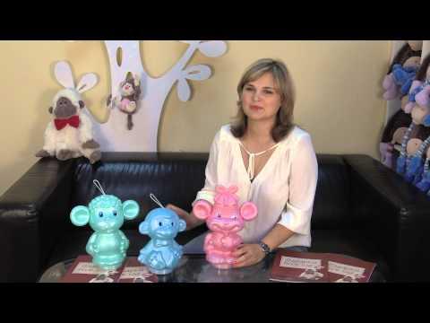 Пластиковые обезьянки - Сластена, Малыш и Мартышка.