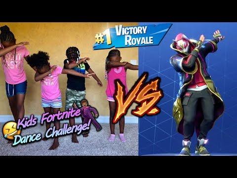 Kids Fortnite Dance Challenge (On Trampoline)