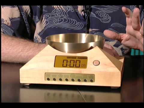 Automated Gong and Singing Bowl Clock