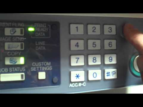 Sharp ARM 550/620/700 Reset Machine with Error Code